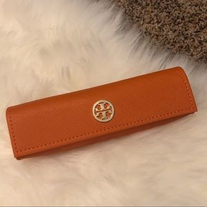 Tory Burch Eye Glasses Case with Gold Hardware